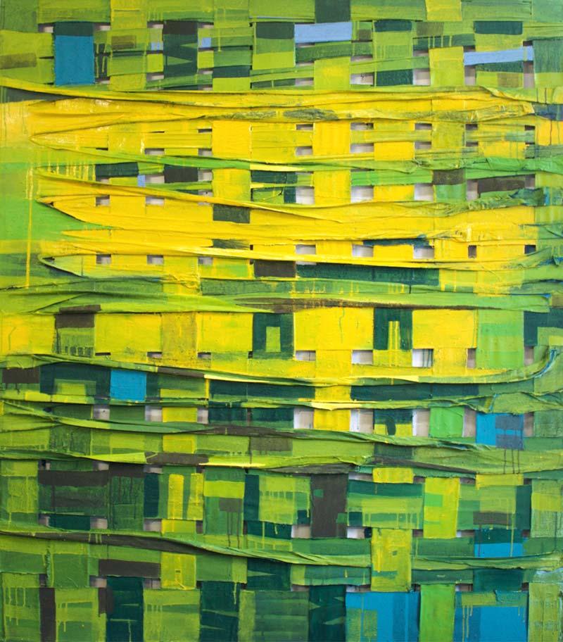 """Engdaget Legesse, """"Woven Natur"""" (Ausschnitt), 2017, 180 x 160 cm"""