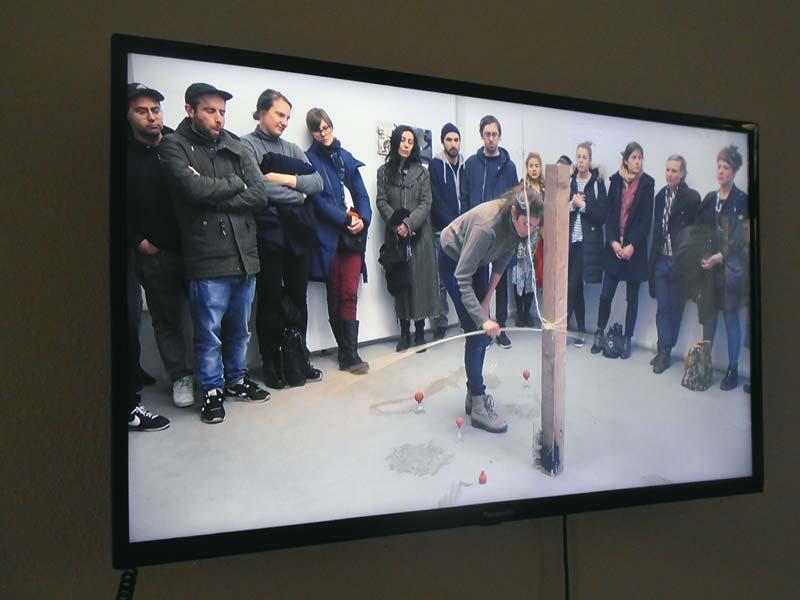 Aufzeichnung der Performance von Anaïs Héraud-Louisadat, uqbar, Foto: Ute Lindner