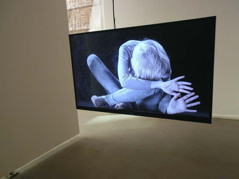 Videoarbeit von Yvon Chabrowski, Foto: Ute Lindner
