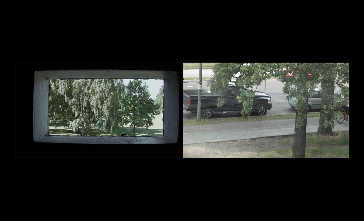 © Maya Schweizer, Regarde par ici,...Und dort die Puschkinallee - HD-Doppelprojektion / 25 min / Englisch, Französisch und Deutsch / Farbe / Ton / Berlin 2017, Filmstill